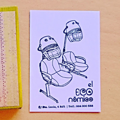 Sello sillón peluquería retro diseño ilustración