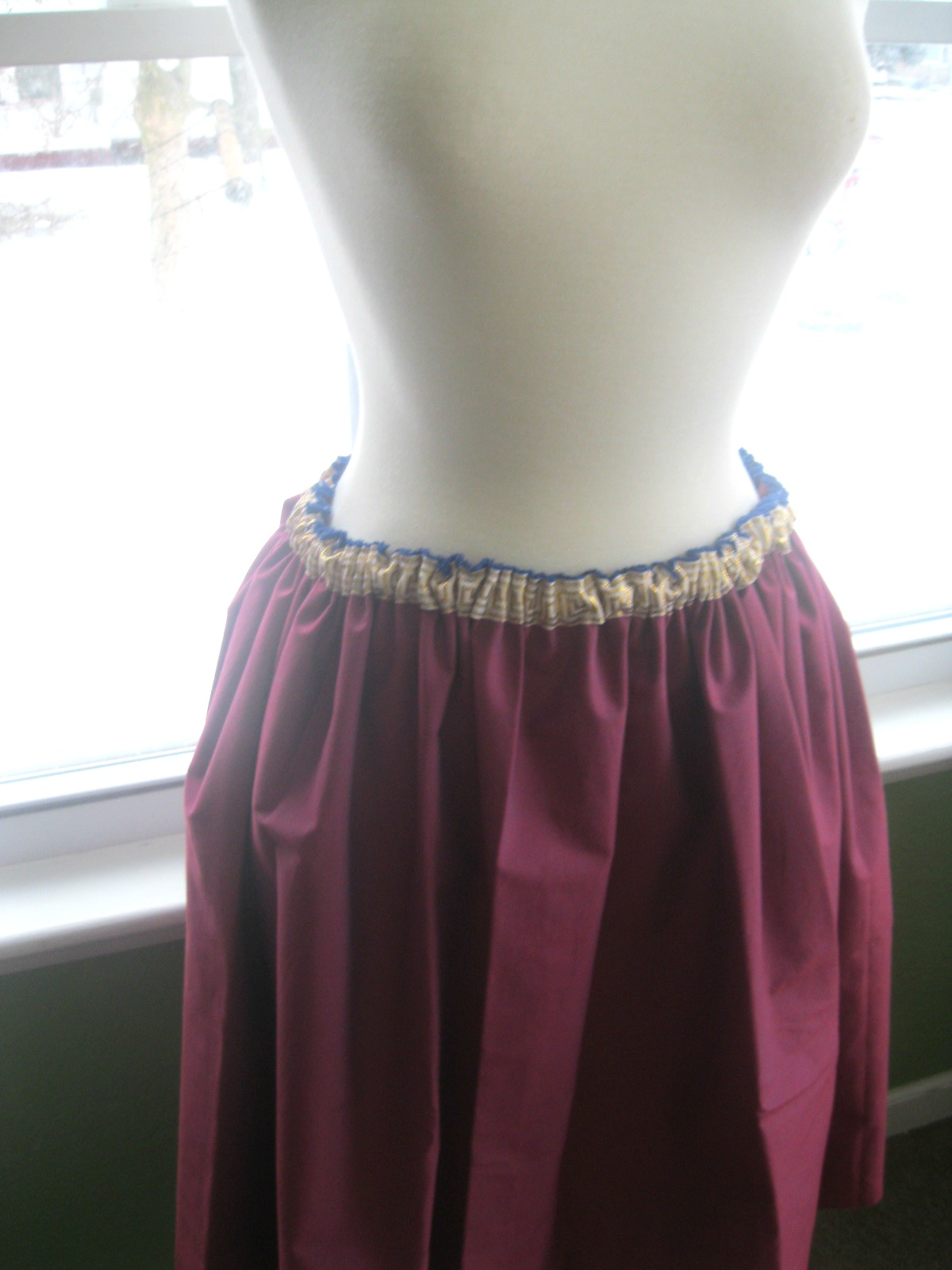 how to make a gathered skirt with waistband