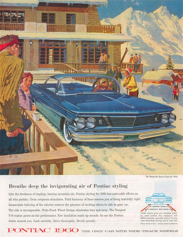 Vintage Car Advertising Posters in US from 1957-1960 ~ vintage ...