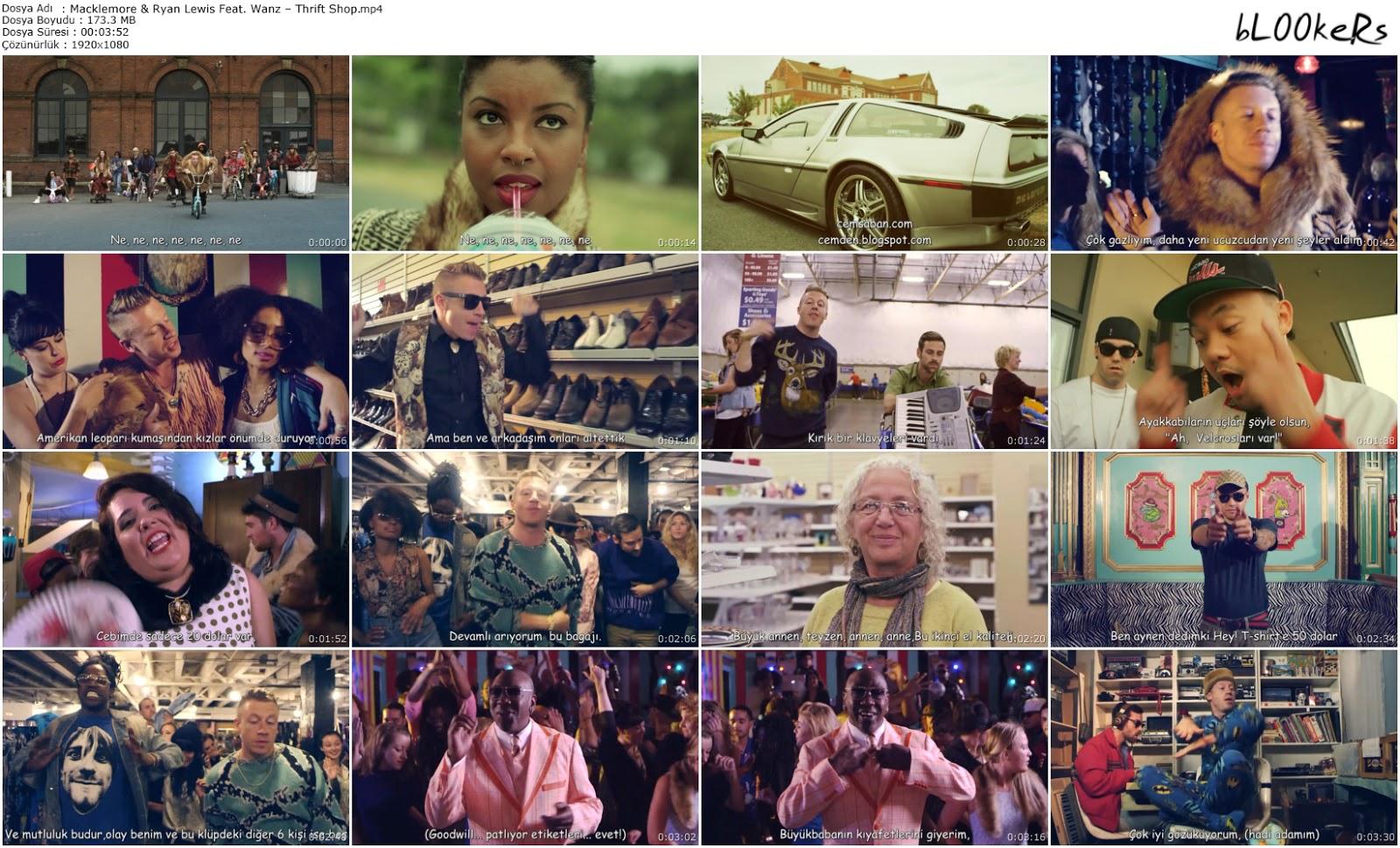 Macklemore & Ryan Lewis Feat. Wanz – Thrift Shop (Türkçe Altyazılı - bL00keRs)