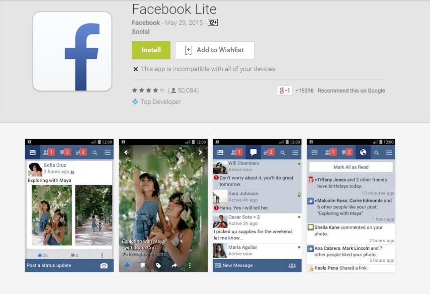 Facebook lite for android direct download for Facebook lite