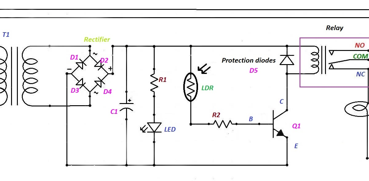 simple electrical and electronics engineering projects  automatic night light control ldr