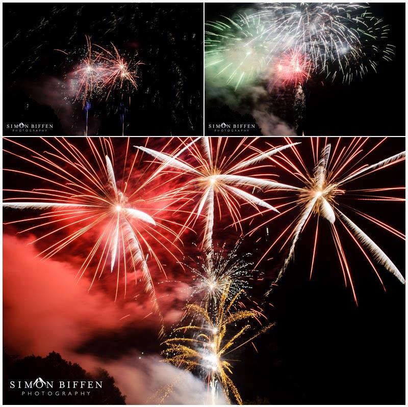 Fireworks Polesdon Lacey wedding