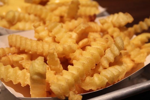 Crinkle-cut fries at Shake Shack, Chestnut Hill, Mass.