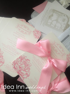 Solemnisation Invitation Card Pink Ribbon