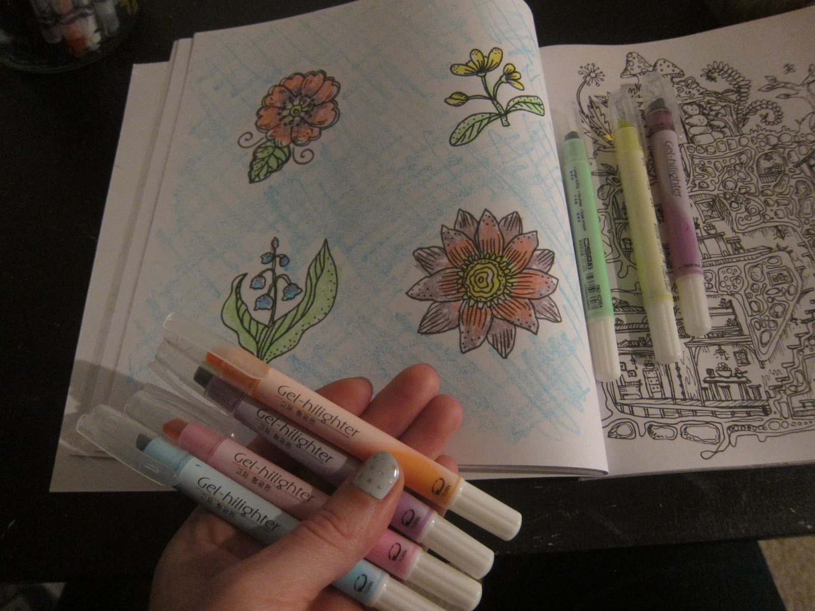 Online coloring for 7 year olds - These Gel Highlighters Actually Blend With Each Other Really Well Too My 7 Year Old Was Having A Blast Coloring With The Yellow And Then Running The Blue