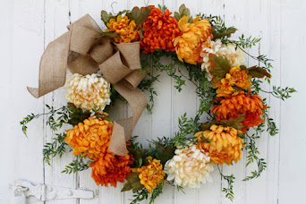 Fall Chrysanthemum Wreath