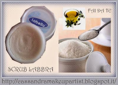 SCRUB LABBRA - FAI DA TE - homemade handmade scrub lips - oil sugar burro cacao