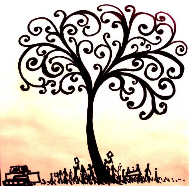 Live simply give generously practice hospitality act for Tree of knowledge of good and evil tattoo