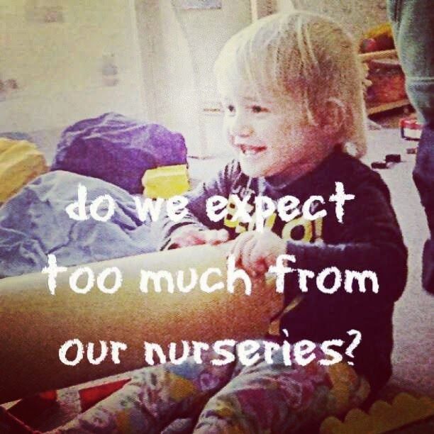 Do we expect too much of nurseries and pre schools?