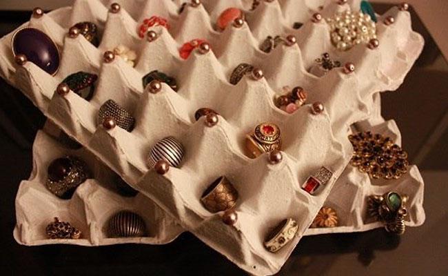 Caixa de Ovo para organizar acessórios