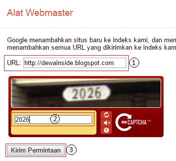 Tambah URL ke Google