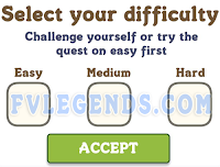 FarmVille Select your difficulty Level popup