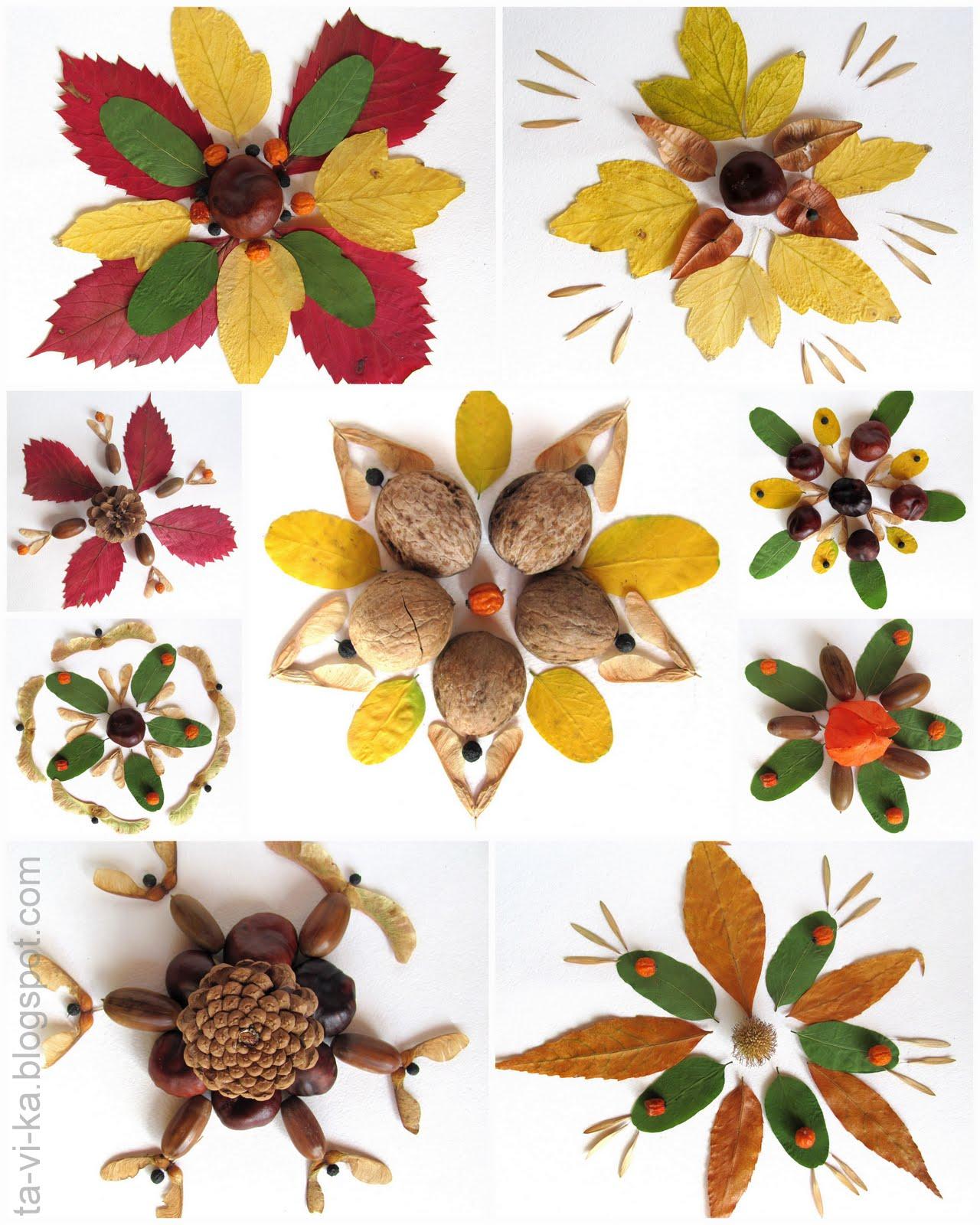 Поделки осенние листья картинки