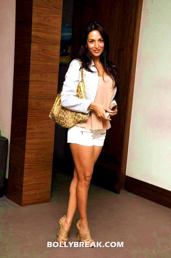 , Malaika Arora In Shorts And Aditi Govitrikar In Dress