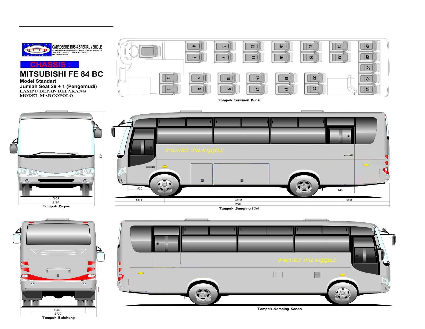 Pajero Sport Harga Terbaik Karoseri Minibus Medium Bus