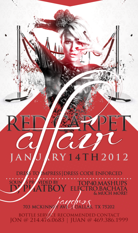 VISUALHYPE: JANDROS RED CARPET : FLYER DESIGN
