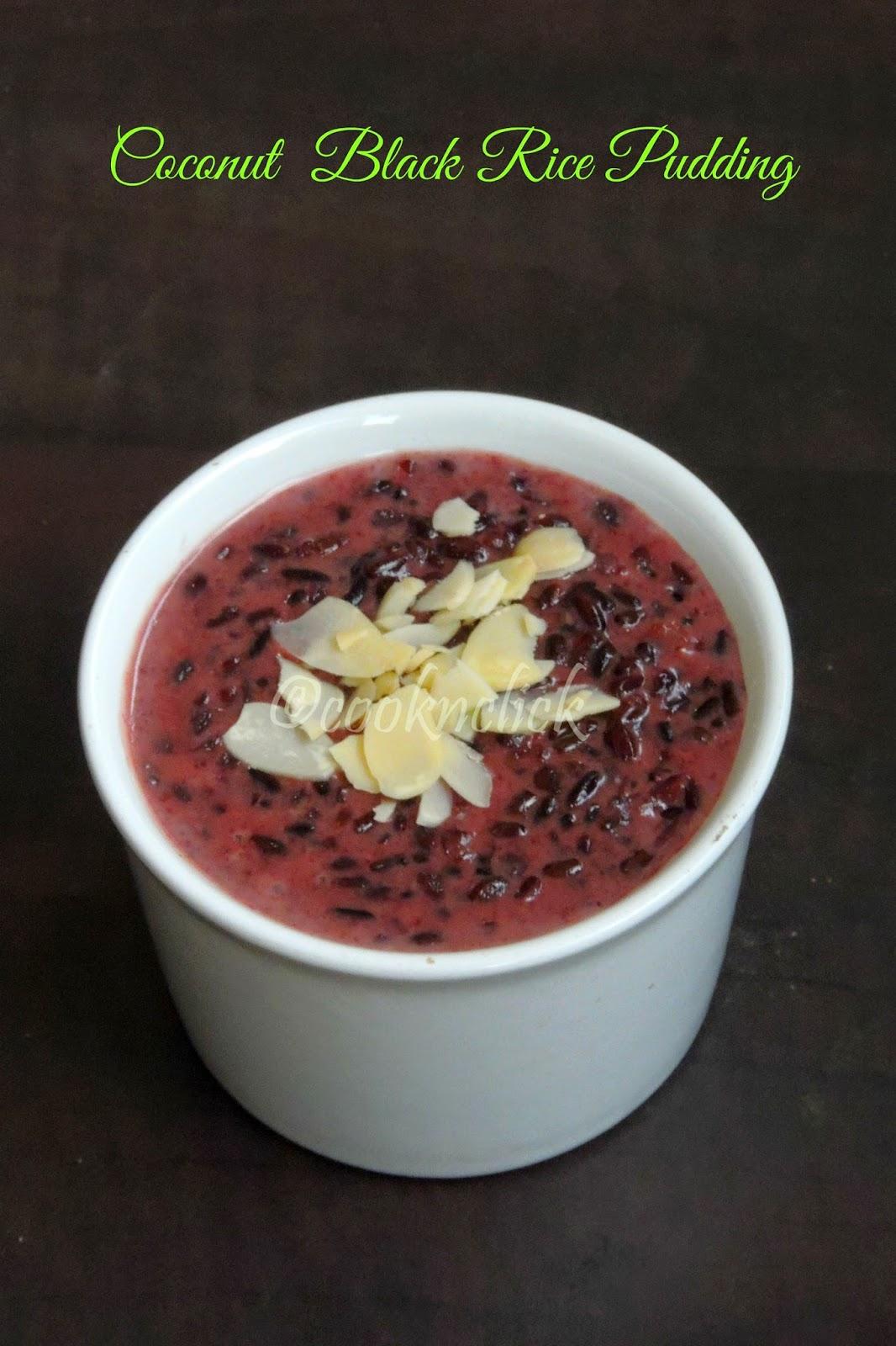 Vegan Coconut milk and black rice pudding