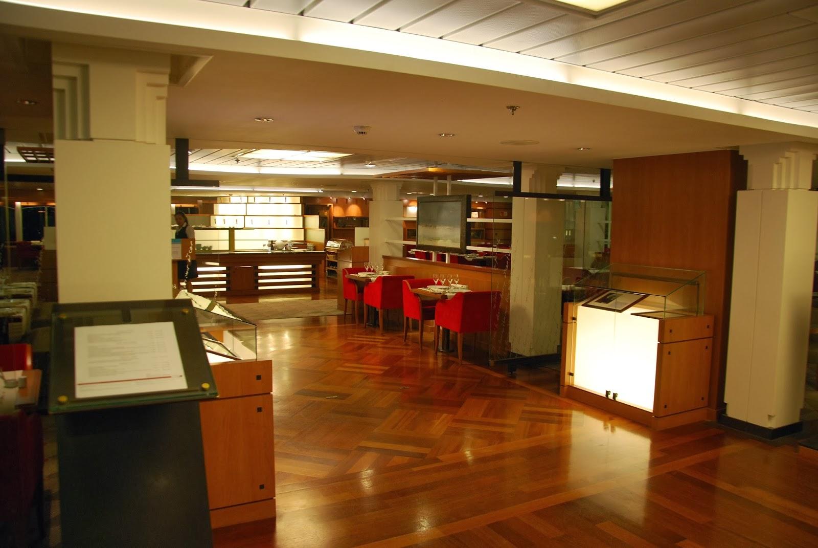 ferries table is set on the quot les romantiques quot restaurant on board mont st michel