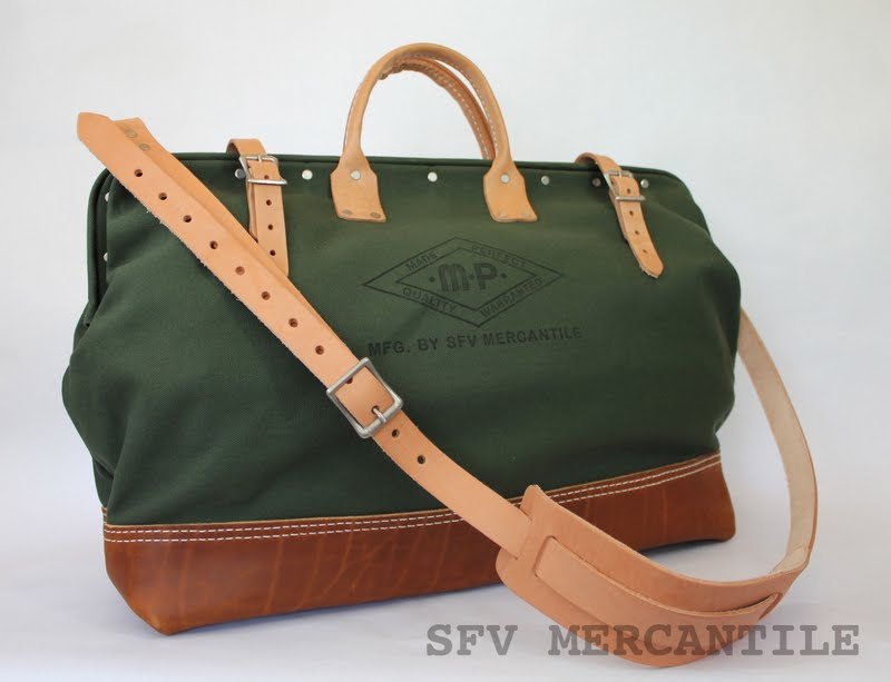 Leather Tool Tote Bags Canvas Leather Tool Bags
