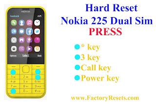 Hard Reset Nokia 225 Dual SIM
