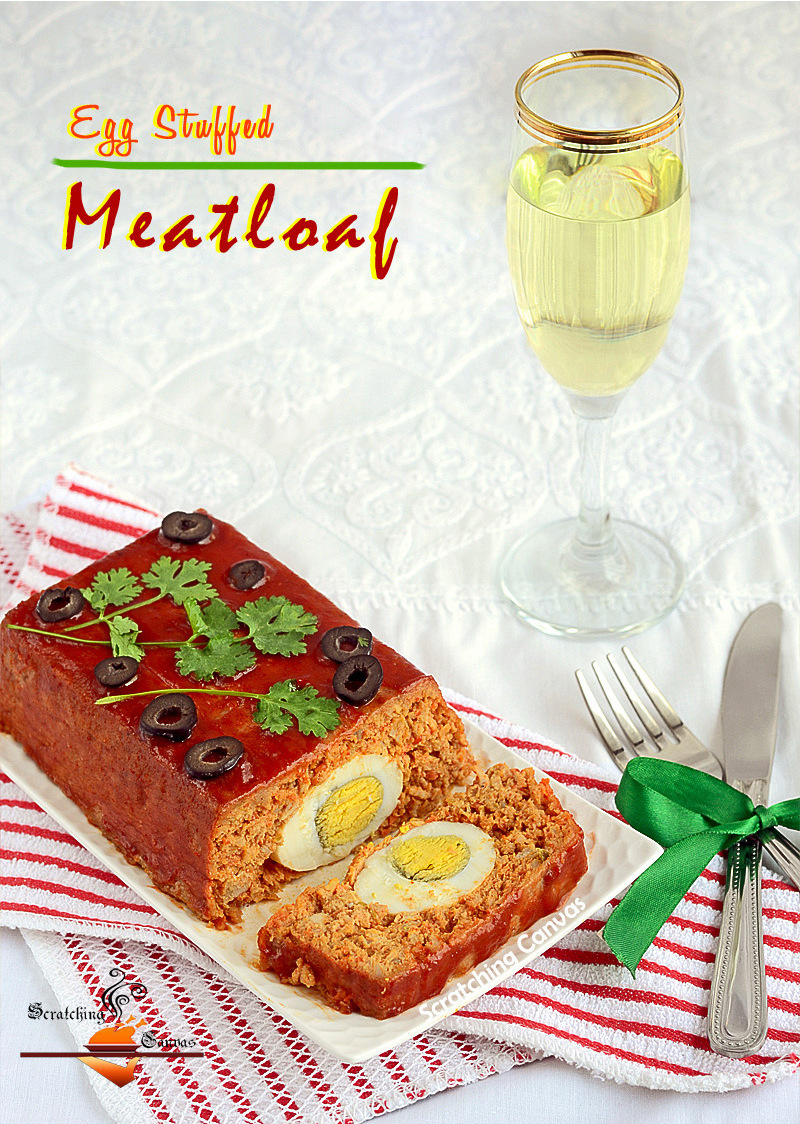 ... both recipes of Egg stuffed Meatloaf and Buttermilk Mashed Potatoes