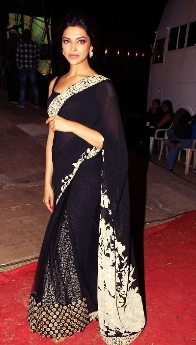 10 Cute HD Pictures of Deepika Padukone in Saree