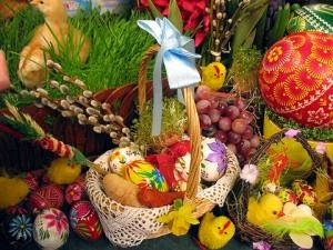 The celebration of Easter with eggs