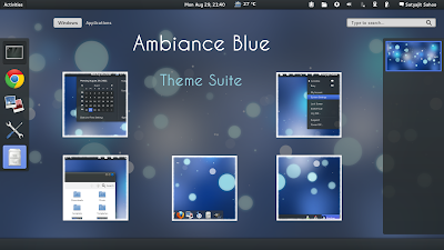 Ambiance Blue GNOME Shell Theme