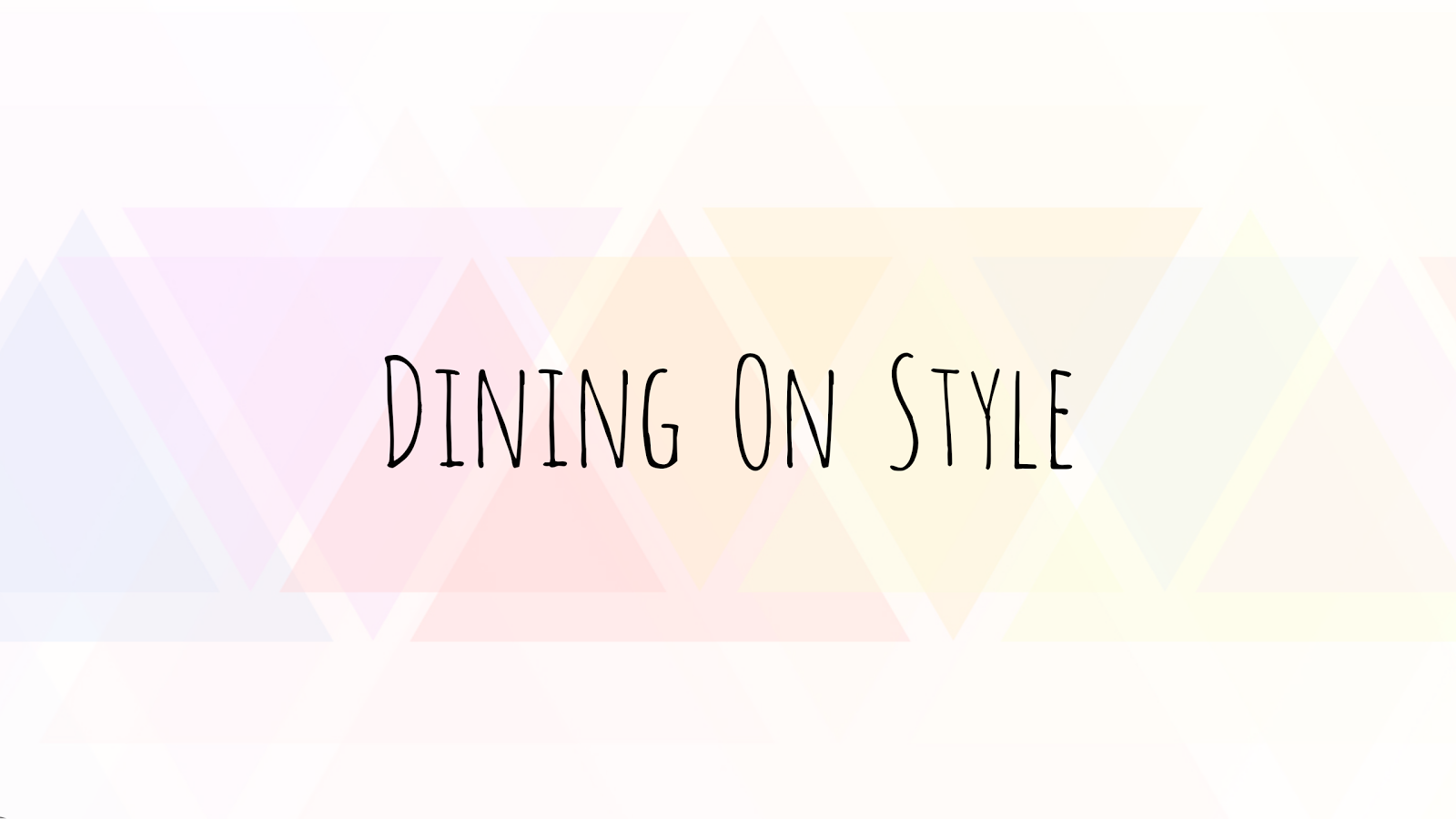 Dining On Style