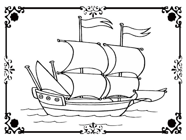 Printable viking ship coloring pages