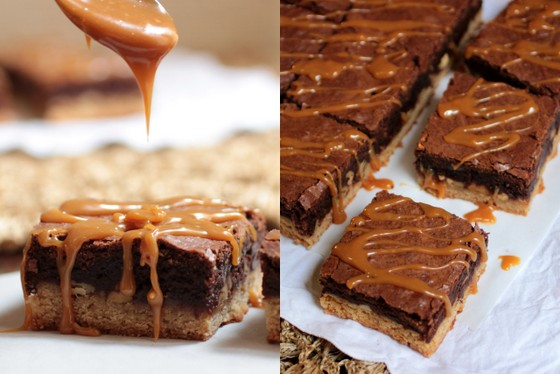 Caramel Congo Bars - a guest post at Hip Foodie Mom | Vintage Kitchen Notes