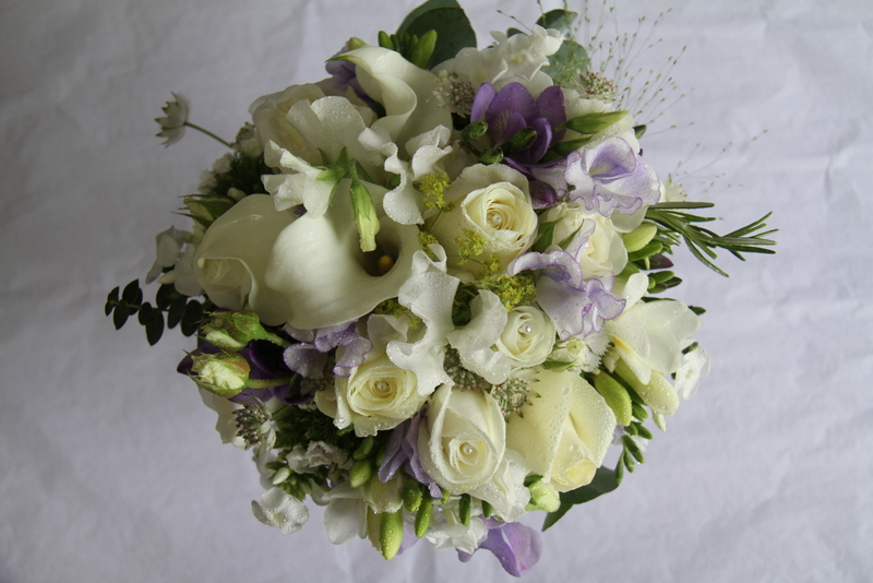 The Flower Magician Lilac Ivory Wedding Bouquet Of Freesia Sweet