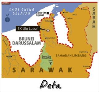 Peta SK Ulu Lubai Sarawak : Permata dalam Belantara