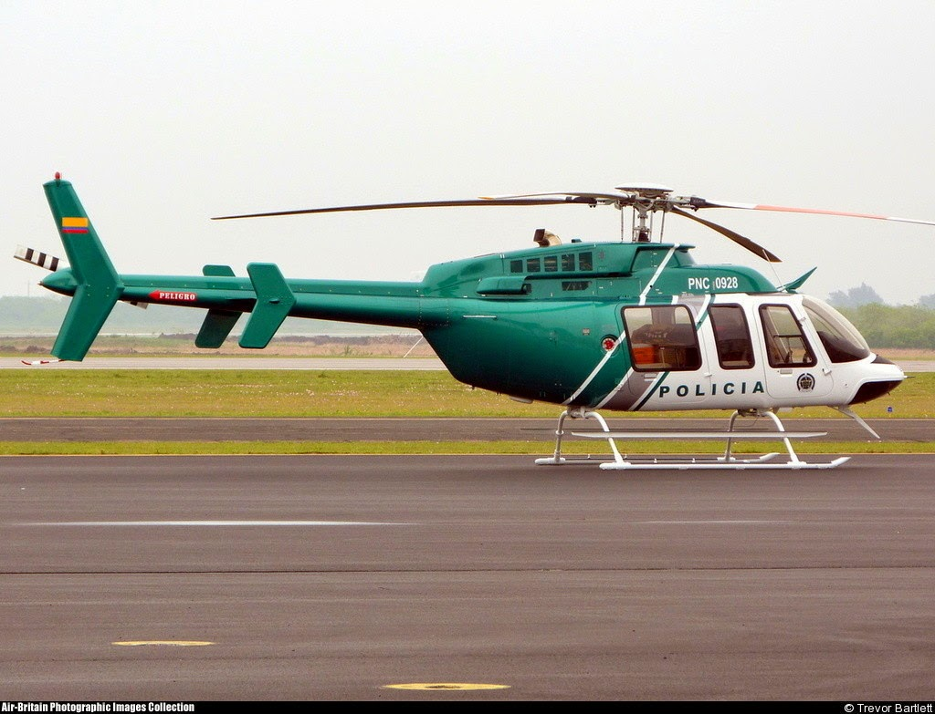 Policia Colombia Bell 407 PNC-0928