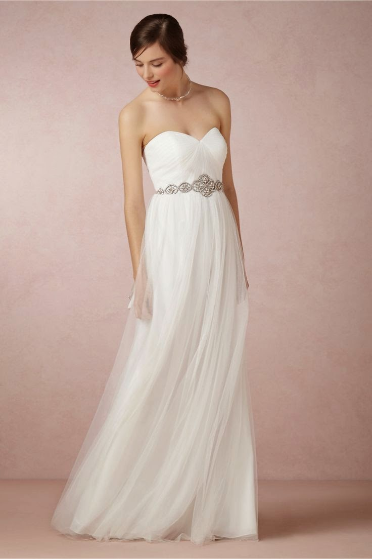 BHLDN Annabelle Dress: Affordable Wedding Dresses - Strapless