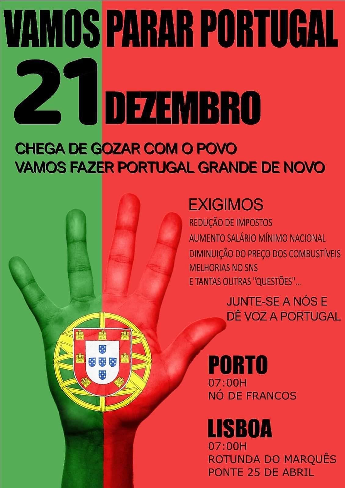 21 de dezembro, 7h00: Portugal