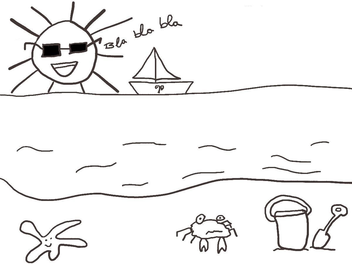 Dorable Vacaciones De Verano Para Colorear Cresta - Dibujos Para ...