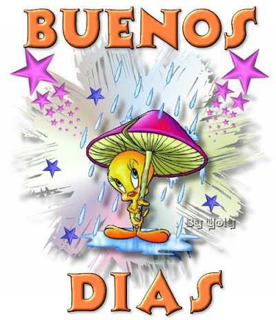 Buenos Dias Piolín con seta paraguas