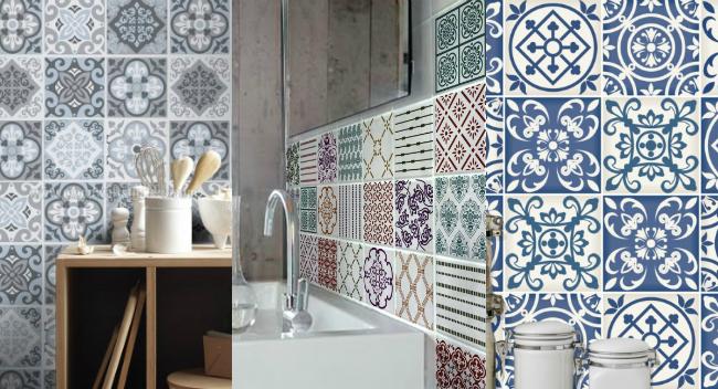 3 alternativas para tener baldosas hidr ulicas en casa la garbatella blog de decoraci n de - Azulejos adhesivos leroy merlin ...