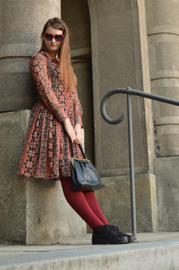 ootd, outfit, personal style, london, secondhand, vintage, quaintrelle, georgiana, quaint, heart shaped glasses, asos, vagabond