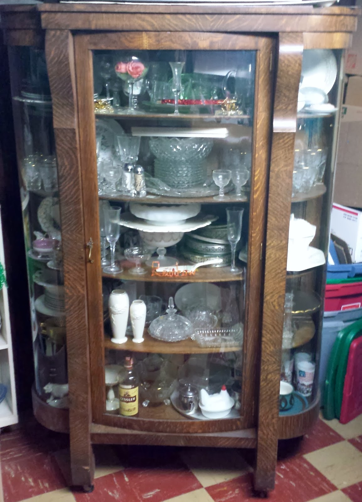 Antiquehaven ebert furniture company china closet cabinet for Todays furniture philadelphia