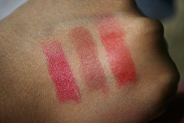 Laura Mercier Rouge Nouveu Weightless Lip Color in Sexy, Chic & Malt Swatches