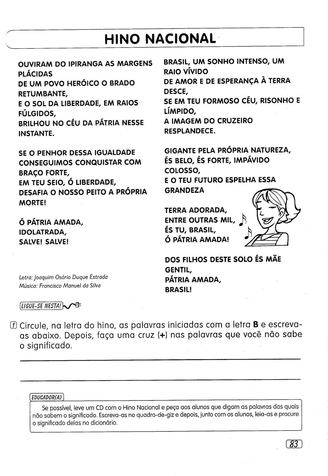 Preferência Atividades EJA - Descobrimento do Brasil, capitais,Hino Nacional e  GZ67