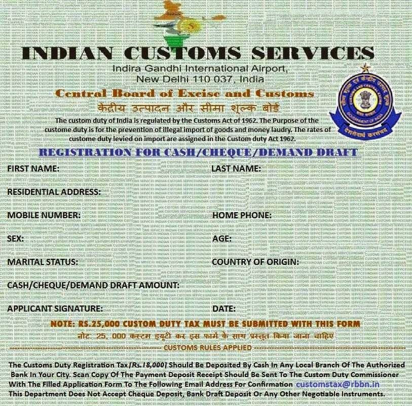NEW DELHI CUSTOMS TAX REVENUE | Email Frauds