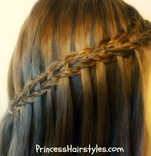 Scissor waterfall braid using micro braids