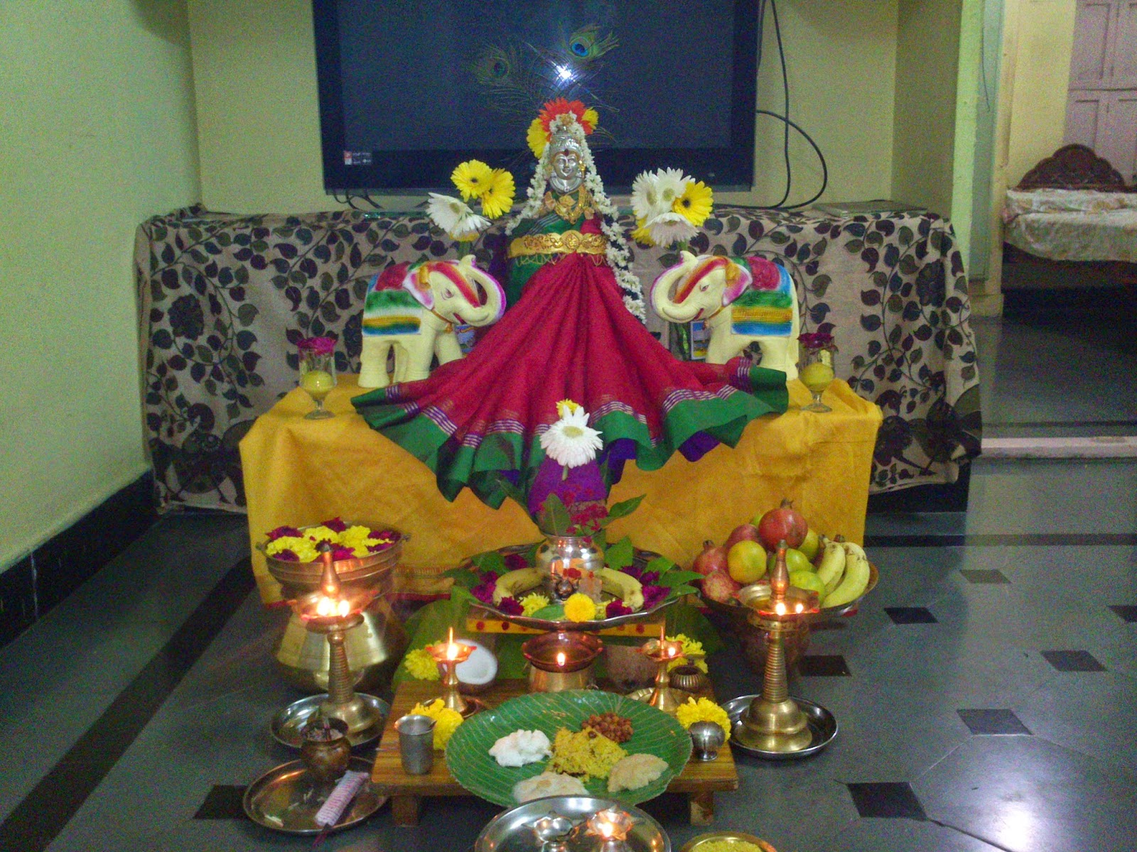 Image result for lakshmi devi pooja