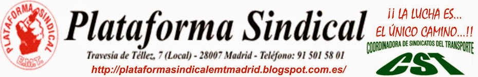PLATAFORMA SINDICAL EMT MADRID