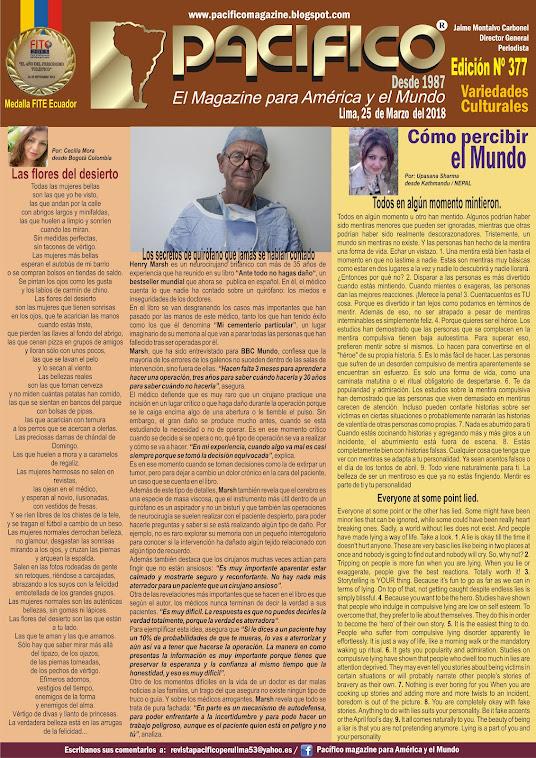 Revista Pacifico Nº 377 Variedades Culturales