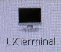 Vous pouvez lancer un terminal en cliquant dessus.
